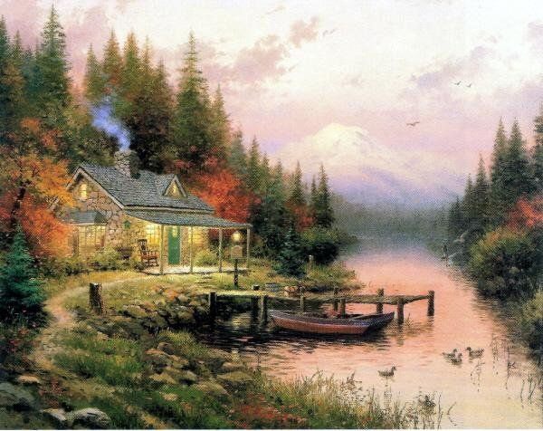 Thomas Kinkade End of a Perfect Day