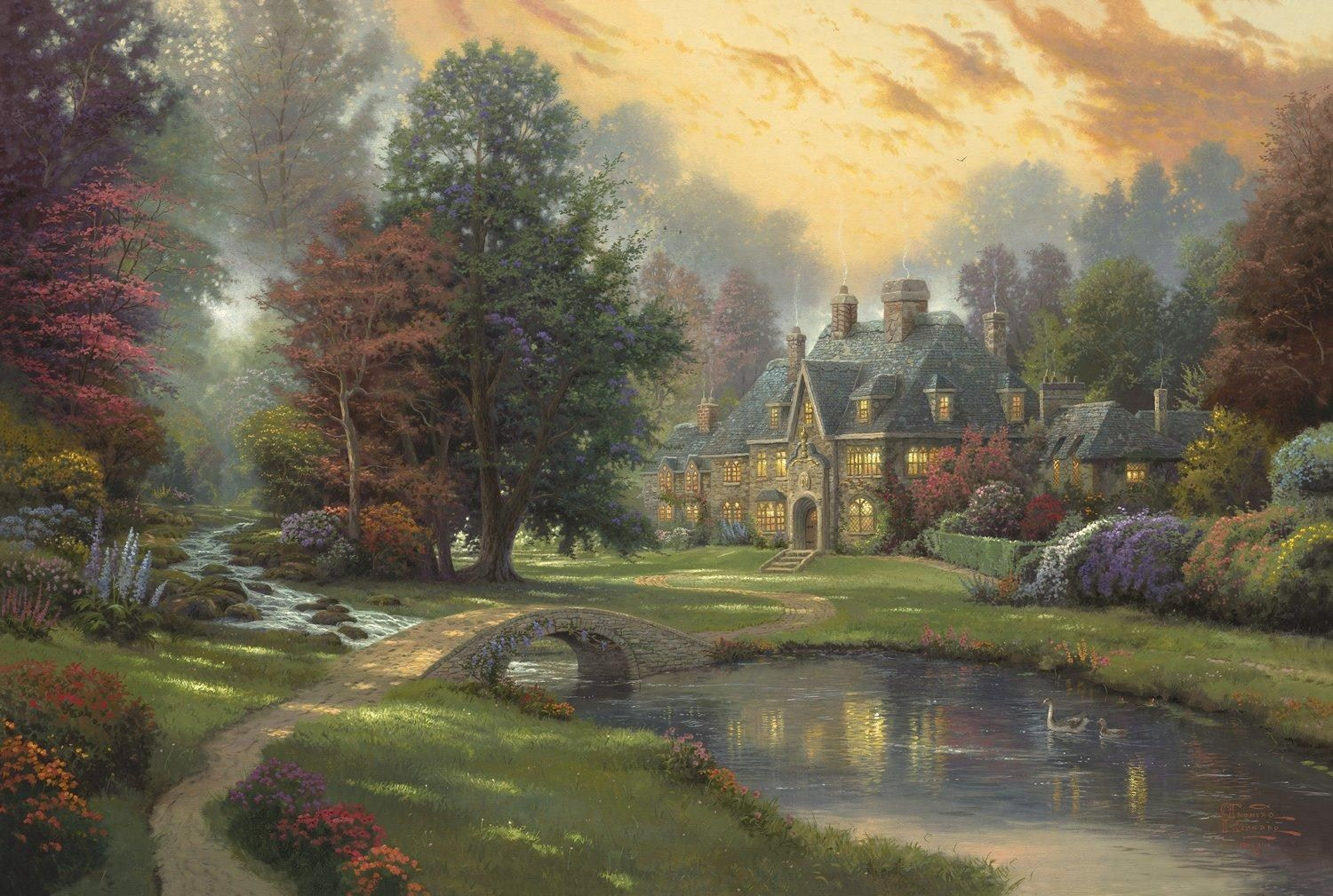 Thomas Kinkade Lakeside Manor