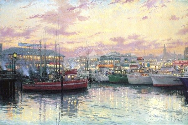 Thomas Kinkade San Francisco Fisherman's Wharf