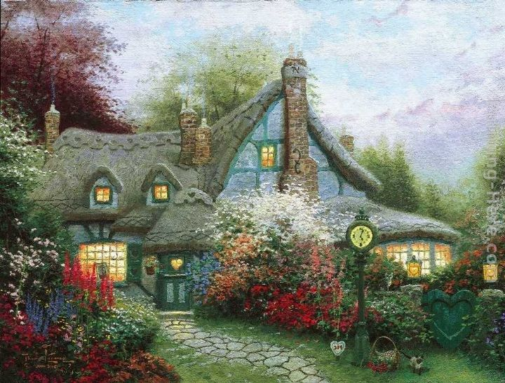 Thomas Kinkade Sweetheart Cottage