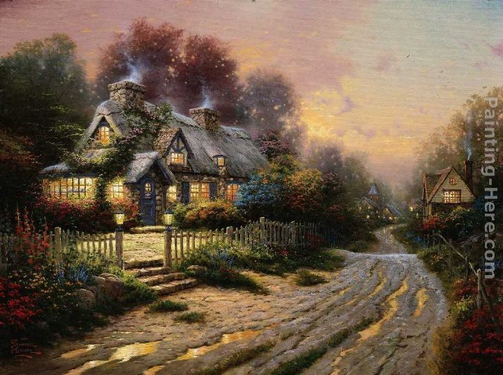 Thomas Kinkade Teacup Cottage