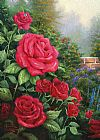 Floral paintings - A Perfect Red Rose by Thomas Kinkade