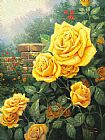 Floral paintings - A Perfect Yellow Rose by Thomas Kinkade