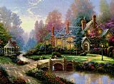 Thomas Kinkade Beyond Spring Gate painting