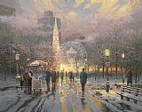 Thomas Kinkade Boston Celebration painting