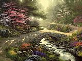 Thomas Kinkade Bridge of Faith painting
