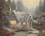 Thomas Kinkade Cedar Nook Cottage painting