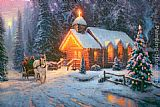 Thomas Kinkade Christmas Chapel I painting