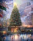 Thomas Kinkade Christmas in New York painting