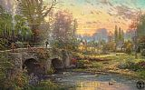 Thomas Kinkade Cobblestone Evening painting