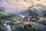 Thomas Kinkade Emerald valley painting
