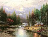 Thomas Kinkade End Of A Perfect Day II painting