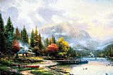 Thomas Kinkade End of a Perfect Day III painting