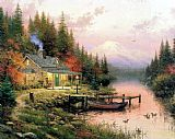 Garden paintings - End of a Perfect Day by Thomas Kinkade