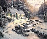Thomas Kinkade Evening Glow painting
