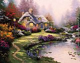Thomas Kinkade Everett's Cottage painting