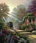 Thomas Kinkade Garden of Grace painting