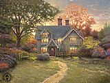 Thomas Kinkade Gingerbread Cottage painting