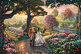 Garden paintings - Gone With The Wind by Thomas Kinkade