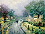 Thomas Kinkade HOMETOWN MEMORIES painting