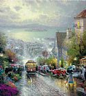 Thomas Kinkade HYDE STREET AND THE BAY SAN FRANCISCO painting