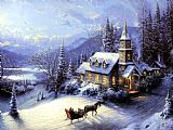 Thomas Kinkade Home For Christmas painting