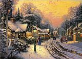 Thomas Kinkade Hometown painting