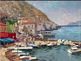 Thomas Kinkade Island Afternoon Greece painting