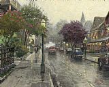 Thomas Kinkade Jackson Street,Cape May painting