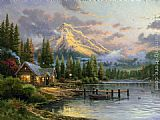 Thomas Kinkade Lakeside Hideaway painting