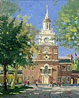 Thomas Kinkade Liberty Plaza Philadelphia painting