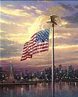 Thomas Kinkade Light of Freedom painting