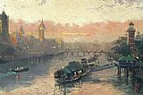 Thomas Kinkade London At Sunset painting