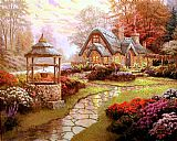 Thomas Kinkade Make a Wish Cottage 2 painting