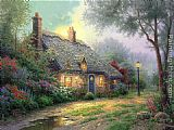 Thomas Kinkade Moonlight Cottage painting