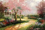 Thomas Kinkade Morning Dogwood painting