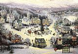 Thomas Kinkade St. Nicholas Circle painting
