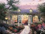 Thomas Kinkade Studio in The Garden painting