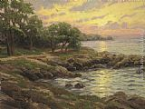 Thomas Kinkade Sunset on Monterey Bay painting