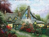 Thomas Kinkade Sweetheart Cottage painting