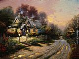 Thomas Kinkade Teacup Cottage painting