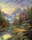 Thomas Kinkade The Good Life painting