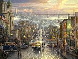 Thomas Kinkade The Heart of San Francisco painting