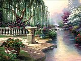 Garden paintings - The Hour of Prayer by Thomas Kinkade