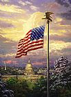 Thomas Kinkade The Light of Freedom painting