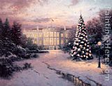 Thomas Kinkade The Lights of Liberty painting