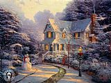 Thomas Kinkade The Night Before Christmas painting