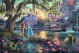 Thomas Kinkade The Princess and the Frog painting