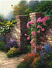 Floral paintings - The Rose Garden by Thomas Kinkade