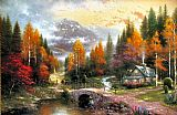 Thomas Kinkade The Valley of Peace painting